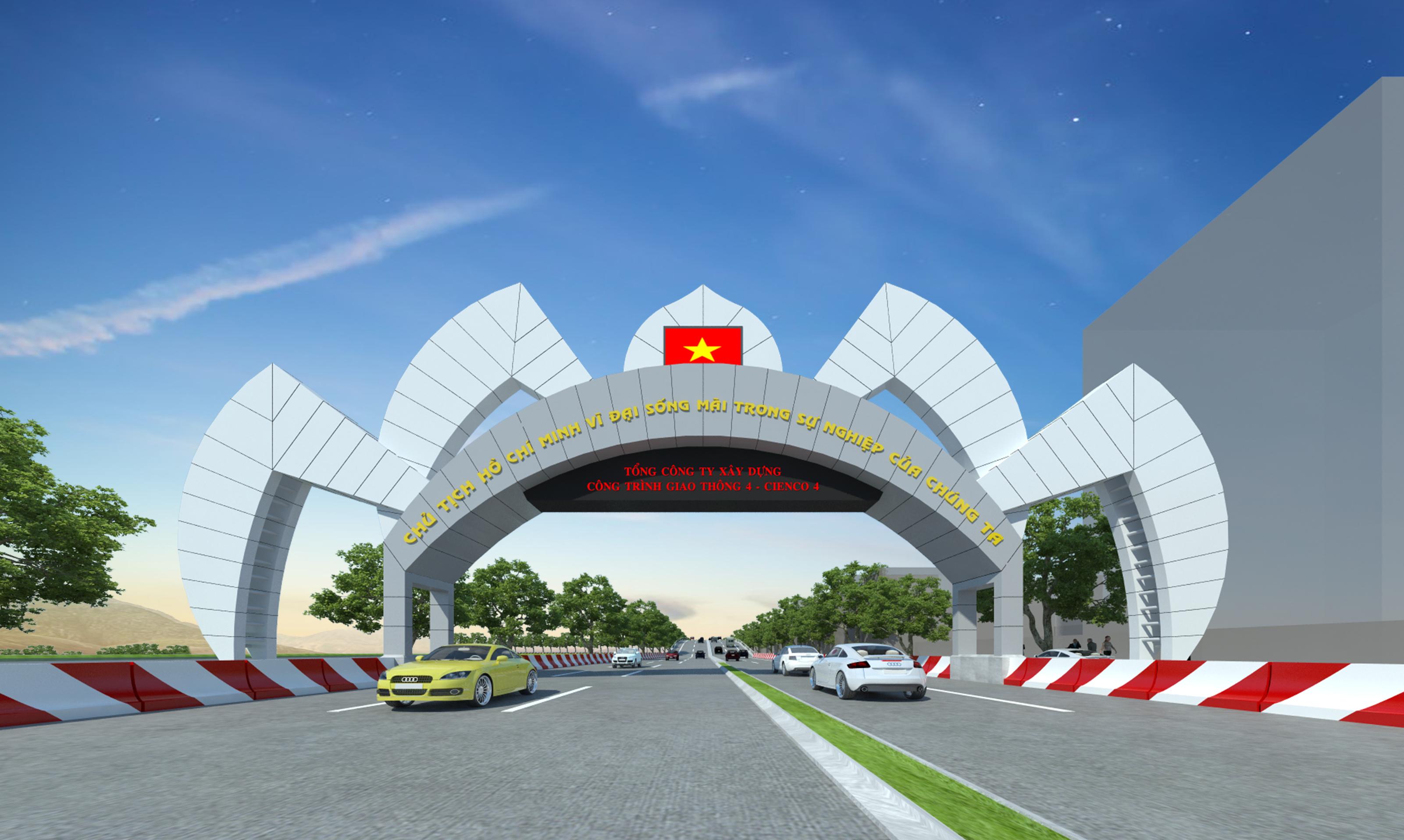 Cổng chào 46-TP Vinh